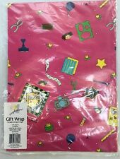 "Scrapbookers! Gift Wrapping Paper - 2 Sheets 26""x38"" Matching Card/Envelope"