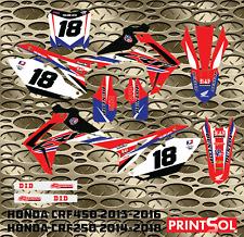 Honda CRF450 2013 2014 2015 2016 CRF250 2014-2018 graphics kit 16 mil