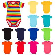 Short Sleeved Bodysuit Vests Baby Girls Boys 0-3 Years Cotton Spring/Summer