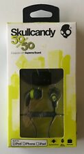 Skullcandy 50/50 11mm Earbuds in Grey and Hot Lime with Mic - NEW