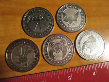 5x JAPANESE Pokemon METAL COIN Meiji Juice LOT#8 Zubat+Golbat+Oddish+Parasect