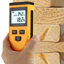 Digital LCD Wood Firewood Moisture Humidity Meter Damp Detector Tester Sensor UK