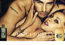 PUBLICITE ADVERTISING 094  2012  GUCCI  parfum pour homme GUILTY (2 pages)