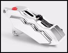"""HHI HAWG HALTERS 6 PISTON CHROME CALIPER 4 HARLEY 13.0"""" TOURING FLHT FLH FLHX"""
