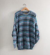 Vintage XL Tundra Coogi Sweater 90s Biggie Cosby Hip Hop Canada Cotton