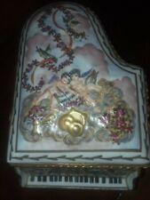 Sale-Capodimonte -Italian Porcelain Piano Musical Box