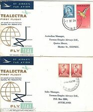 TEALECTRA  Set of 8 First  FLIGHT COVERS - NEW ZEALAND  1959 / 1960