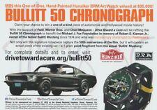 "2018 DRIVE TOWARD A CURE ""Bullitt"" Ford Mustang Chronograph SEMA Show info card"