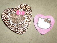 Brand new unused Hello Kitty tins set pink and leopard cute kawaii Japan love :)