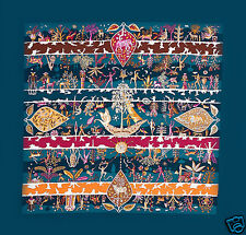 Hermes Scarf Rives Fertiles New In Box With Tag Authentic Bleu Canard