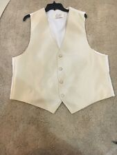 Biege Vest Wedding Homecoming Prom Cream Colored Large