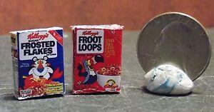 Dollhouse Miniature FOOD Breakfast Cereal Box  2 FFFL 1:12 H86 Dollys Gallery