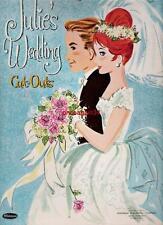 Vintage Uncut 1961 Julie'S Wedding Paper Dolls~#1 Reproduction~Pretty Bridal Set
