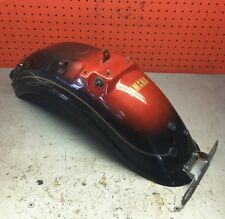 86 1986 Yamaha VIRAGO xv1100 virago xv 1100 rear fender RED GOLD license bracket