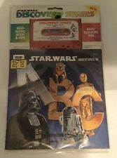 NEW Star Wars Adventures In A B C Darth Vader C-3PO 1984 Book and Tape
