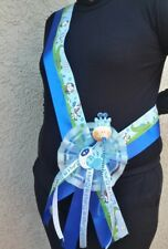 1 Baby Shower MOM TO BE SASH,Blue/It's a boy favors,Giraffe,Mommy,Corsage,safari