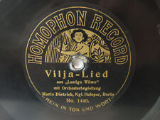 78rpm MARIE DIETRICH (Soprano) on EARLY HOMOPHON RECORD ! Lehar & Meyerbeer