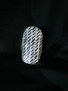 GORGEOUS 925 STERLING SILVER MEXICAN RING LARGE STATEMENT