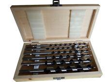 Schlangenbohrer Set Holzbohrer Spiralbohrer 23cm Ø 6,8,10,12,16,20mm +Holzkoffer
