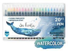 SKULLPAPER® Watercolor Brush Pen Set - 20+1 Stück inkl. Wasserpinsel