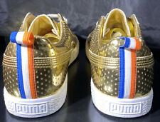 PUMA CLYDE x UNDFTD GAMETIME PROMO UNDEFEATED GOLD RED LOT WHITE BLUE Sz 9.5