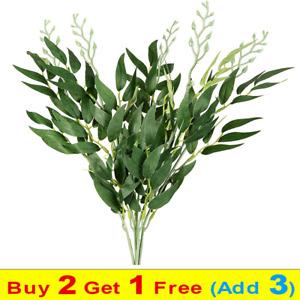 Artificial Willow Twigs Fake Eucalyptus Foliage Bouquet for Home Wedding Decor