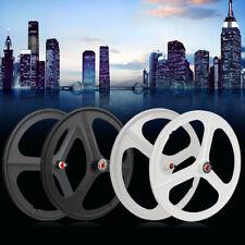 700c Fixed Gear 17 Teeth Tri Spoke Rim Fixie Single Speed Bike Front & Rear Set