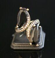 925 Sterling Silver Handmade Gemstone Turkish Onyx Ladies Ring Size Adjustable