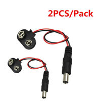 2PCS 9V Battery Snap Power Cable to DC Clip Male Line Adapter for arduino DIY