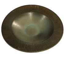 Upsala Ekeby VTG Swedish Pottery Asymmetrical Bowl MCM Hjordis Oldfors Signed