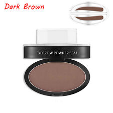 Eyebrow Shadow Definition Makeup Brow Stamp Powder Palette Delicated Natural Top Dark Brown