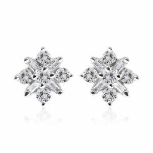 9ct Gold 0.25ct Diamond Cluster earrings 9K Gold & Certificate
