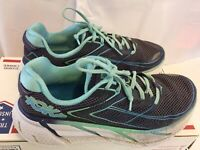 Hoka One One W Clifton 3 Womens 9  Neutral Running Walking Shoes Teal Blue