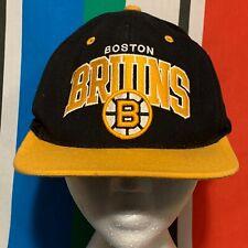 Boston Bruins Hat Snapback Cap NHL Hockey Black Mitchell & Ness