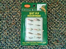 """Vintage """" Nip """" Crystal River 10 In Pack Wet Fly Assortment """" Great Collectible"""