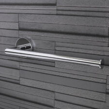 Croydex Epsom Bathroom Hand Towel Bar Holder Round Wall Mounted Modern Chrome