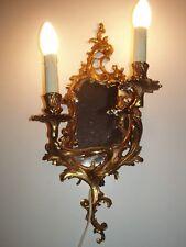 Importante applique / miroir mural de style Louis XV en état de marche