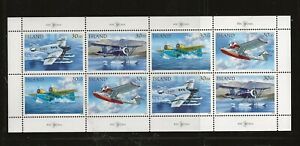 ICELAND Sc 776b NH issue of 1993 - BOOKLET PAIN - AVIATION