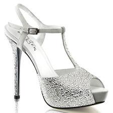 Zapatos de tacón de mujer de tacón alto (más que 7,5 cm) de color principal blanco talla 38