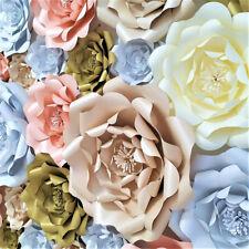 Paper Flower 3D DIY Handcraft Flowers Wedding Party Bridal Shower Wall Backdrop