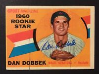 Dan Dobbek Senators Twins Signed 1960 Topps Baseball Card #123 Auto Autograph