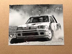 Peugeot 205 T16 Rally Car Press Photograph - Ari Vatenan, Acropolis Rally
