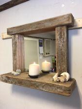 Driftwood Mirror with Shelf Bathroom rustic farmhouse style