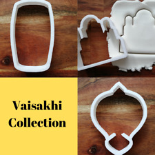 Vaisakhi Cookie Cutter Biscuit Pastry Fondant Stencil Drum Temple Khanda AN