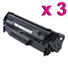 3x Toner Q2612A for HP LaserJet 3015 3020 3030 3052 3055 Printer Cartridge 12A