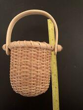 Nantucket basket small nautical swing handle basket