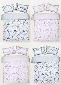 Marble Print Polycotton Duvet Cover set with Pillow Cases Bedding Sets
