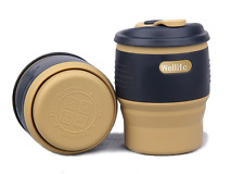 Wellife Collapsible Silicone Coffee Cup,Foldable Travel Mug for Outdoor Camping