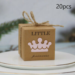 20pcs Kraft Paper Candy Box Baby Shower Gifts For Birthday Party Babyshower+
