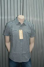 191 Unlimited S/S Blk & Wht Plaid Button-Up Woven NWT S